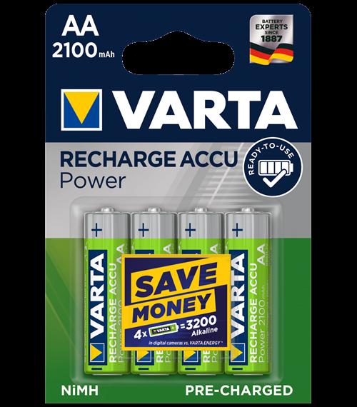 Акумулаторни батерии Varta Ready2Use AA 2100mAh BL4