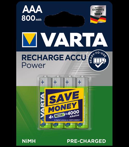 Акумулаторни батерии ААA Varta Ready2Use AAA - 800 mAh - BL4