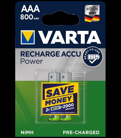 Акумулаторни батерии ААA Varta Ready2Use AAA - 800 mAh