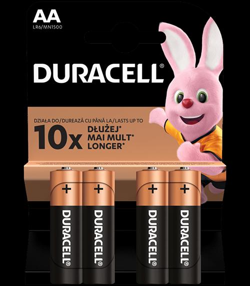 Алкални батерии АА Duracell Basic MN1500