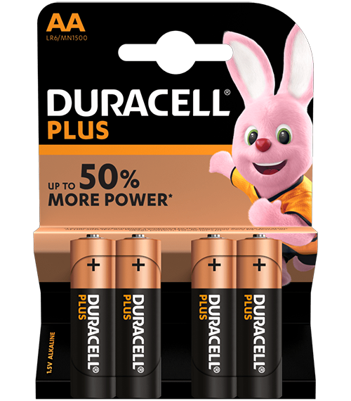 Алкални батерии Duracell Plus Power MN1500 AA BL4