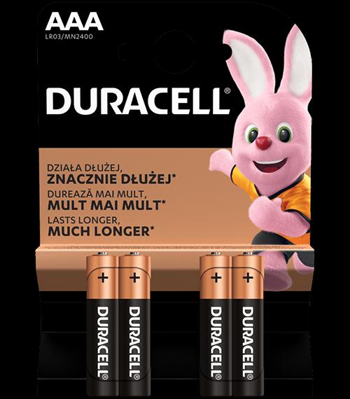 Алкални батерии ААА Duracell Basic MN2400 AAA