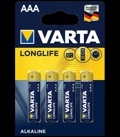 Алкални батерии ААА Varta Longlife AAA