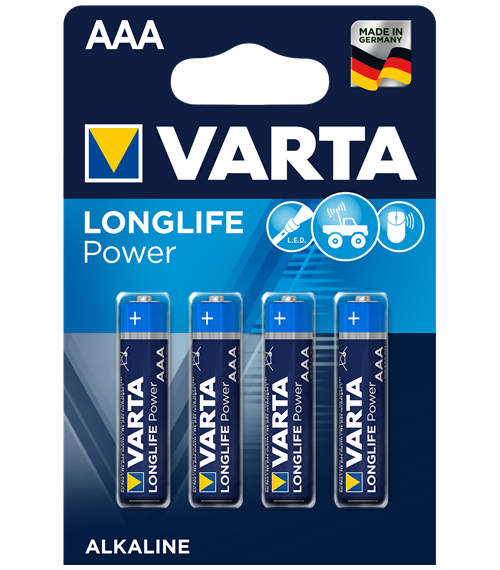 Алкални батерии ААА Varta Power AAA