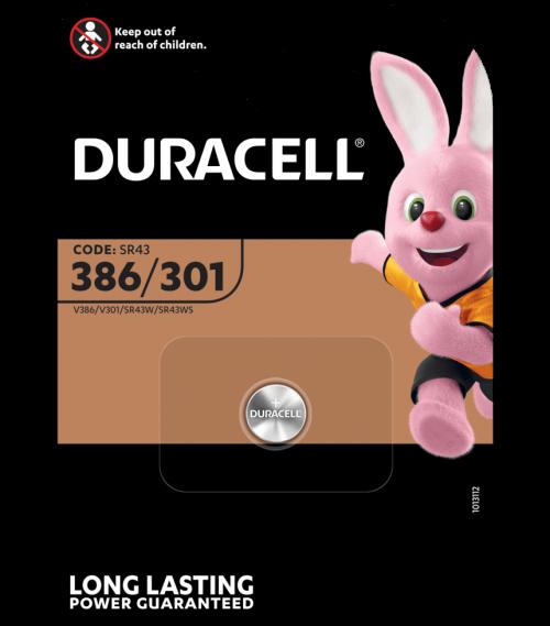 DURACELL D386 (REF 301) BL1