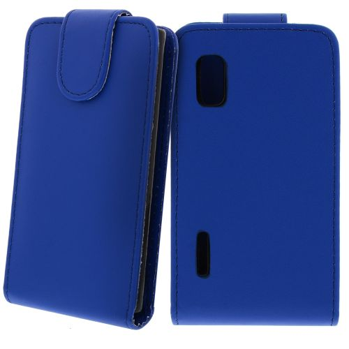 FLIP калъф за LG E610 Optimus L5 Dark Blue