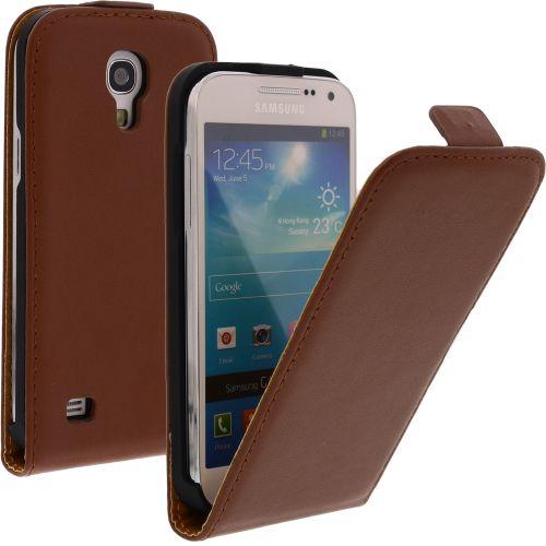 FLIP калъф за Samsung Galaxy S4 mini Естествена кожа Brown