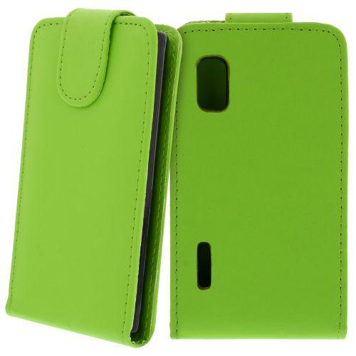 FLIP калъф за LG E610 Optimus L5 Green