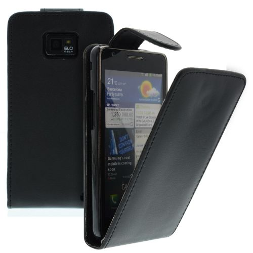 FLIP калъф за Samsung Galaxy S2 i9100 Black