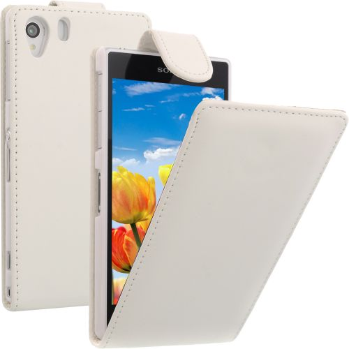 Flip Case for Sony Xperia Z1 White