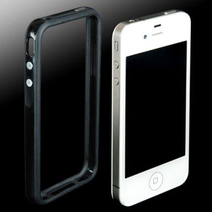 Силиконов кейс Bumper за iPhone 4 4S Solid Black