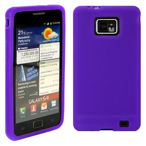 Силиконов кейс за Samsung i9100 purple