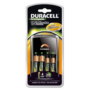 Зарядно у-во 15 мин. Duracell CEF15 + 4xAA 1300mAh