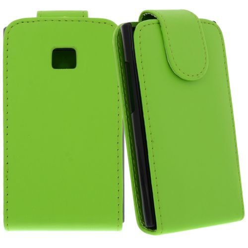 FLIP калъф за LG E400 Optimus L3 Green (Nr 30)