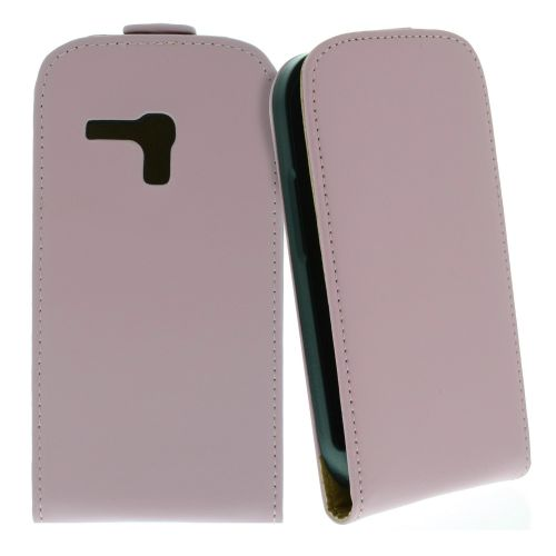 FLIP калъф за Samsung Galaxy S3 mini Естествена кожа Pink