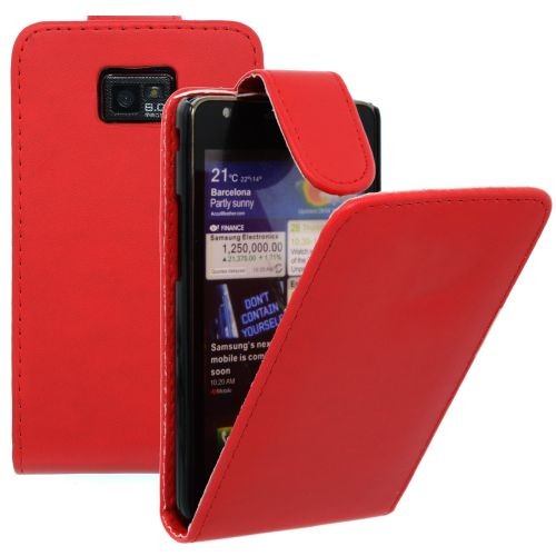 FLIP калъф за Samsung Galaxy S2 i9100 Red (Nr 7)