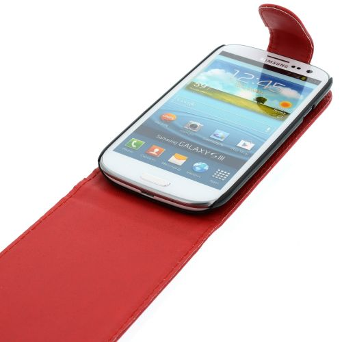 FLIP калъф за Samsung Galaxy S3 i9300 Red (Nr 7)