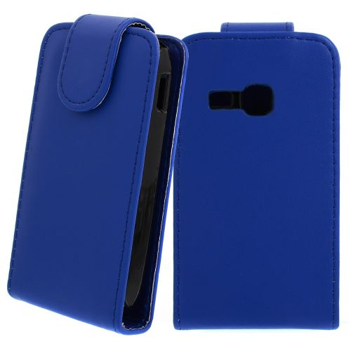 FLIP калъф за Samsung Galaxy Young S6310 Dark Blue (Nr 11)