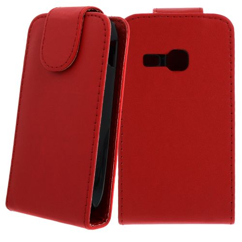 FLIP калъф за Samsung Galaxy Young S6310 Red (Nr 7)