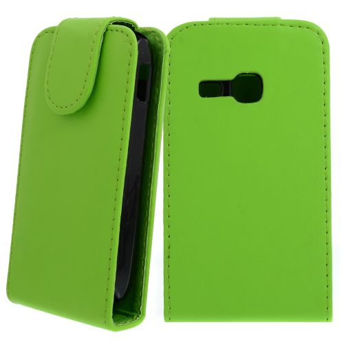 FLIP калъф за Samsung Galaxy Young S6310 Green(Nr 30)
