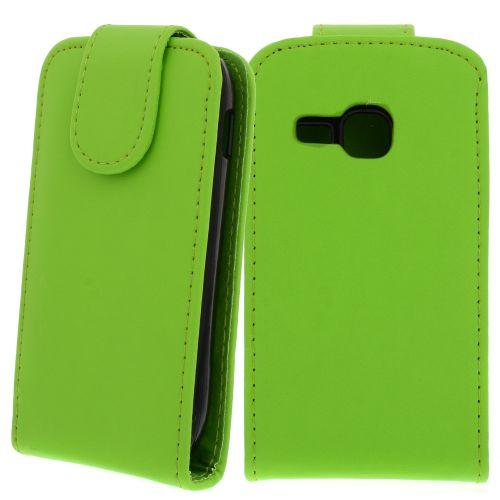 FLIP калъф за Samsung Galaxy Mini 2 GT-S6500 Green (Nr 30)