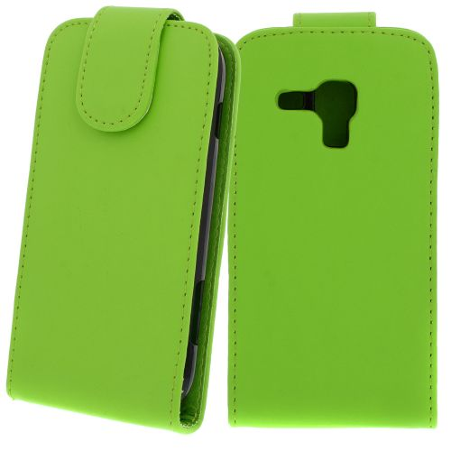 FLIP калъф за Samsung Galaxy S Duos GT-S7562 Green (Nr 30)