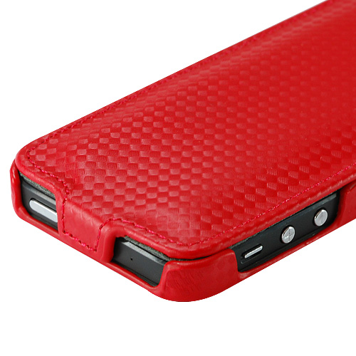 Slim FLIP калъф за iPhone 5 Red
