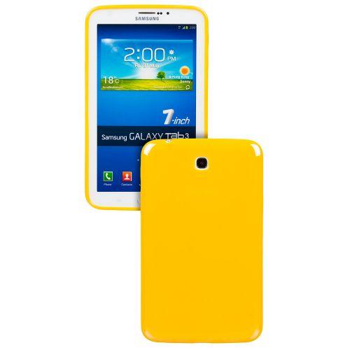 Силиконов кейс за Samsung Galaxy Tab 3-7'' P3200 Yellow+SP