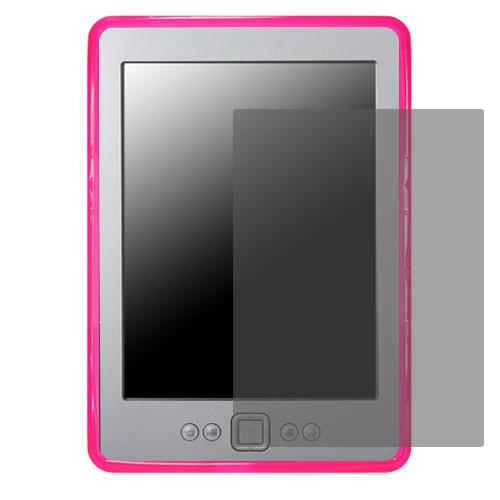 Силиконов кейс за Kindle 4 + Display Protection Розов