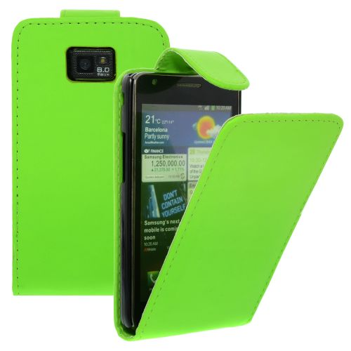 FLIP калъф за Samsung Galaxy S2 i9100 Green