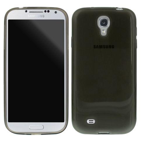 Безцветен Силиконов кейс за Samsung Galaxy S4 Black