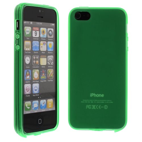 Силиконов кейс за iPhone 5S 5G Green