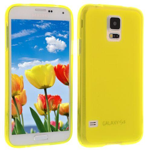 Силиконов кейс за Samsung Galaxy S5 yellow