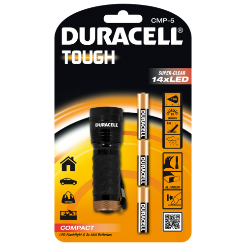 Фенер Duracell Tough Compact CMP-5 + 3xAAA