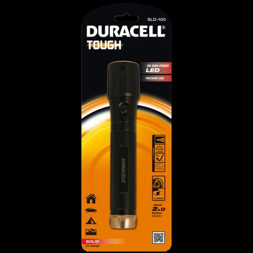 Фенер Duracell Tough Solid SLD-100 (2xD) без батерии
