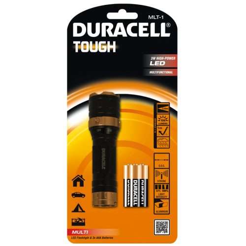 Фенер Duracell Tough Multi MLT-1 + 3xAAA