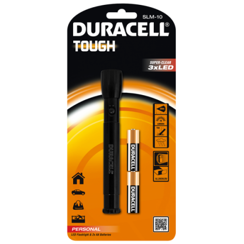 Фенер Duracell Tough Slim SLM-10 + 2xAA