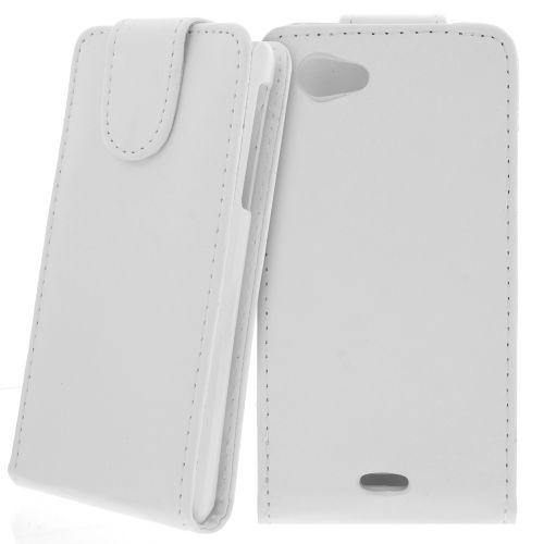 FLIP калъф за Sony Xperia J White