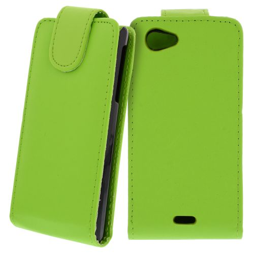 FLIP калъф за Sony Xperia J Green