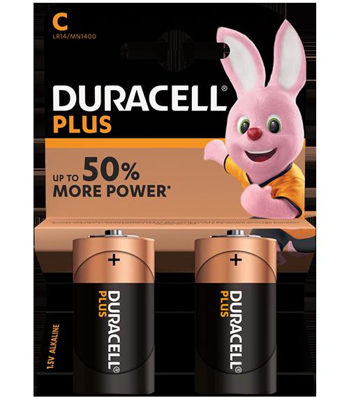 Алкални батерии C - LR14 - Duracell Plus Power MN1400