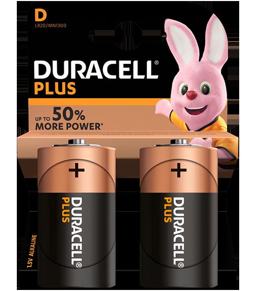 Алкални батерии Duracell Plus Power MN1300 D BL2