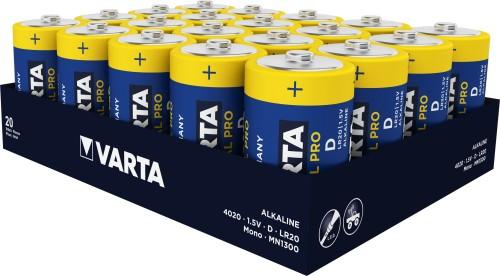 Алкални батерии LR20 - D Varta Industrial Pro D