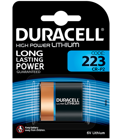 Литиева батерия CR-P2 Duracell DL223A - CR-P2 - 6V