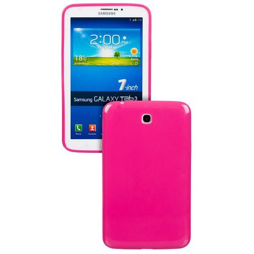 Силиконов кейс за Samsung Galaxy Tab 3-7'' P3200 Hot Pink +SP