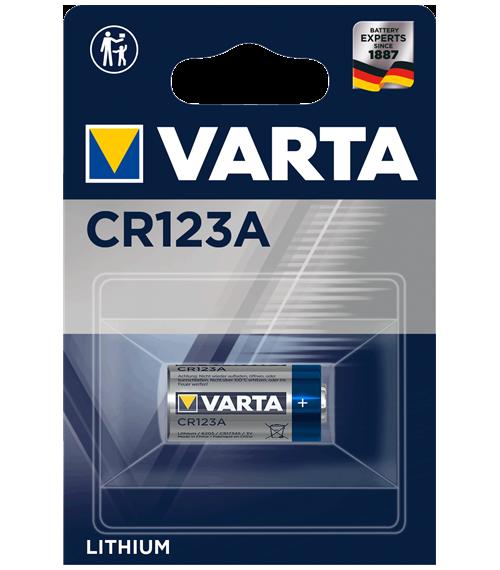 Литиева батерия CR123A, DL123A - Varta