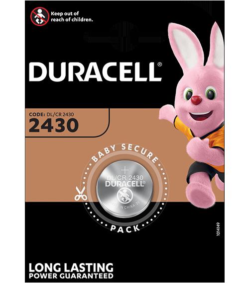 Литиева батерия CR2430 - Duracell DL2430