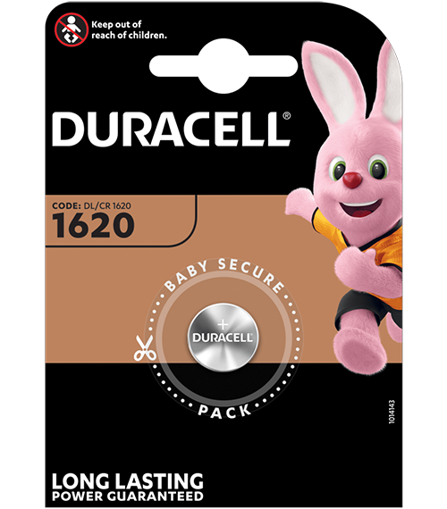 Литиева батерия CR1620 Duracell DL1620 - 3V