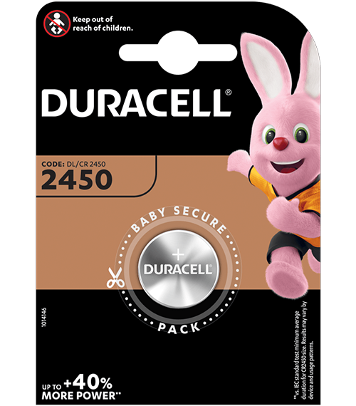 Литиева батерия CR2450 - Duracell DL2450