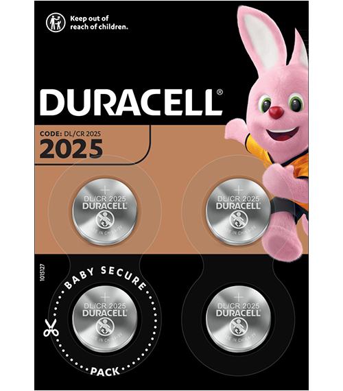 Литиеви батерии CR2025 - Duracell DL2025