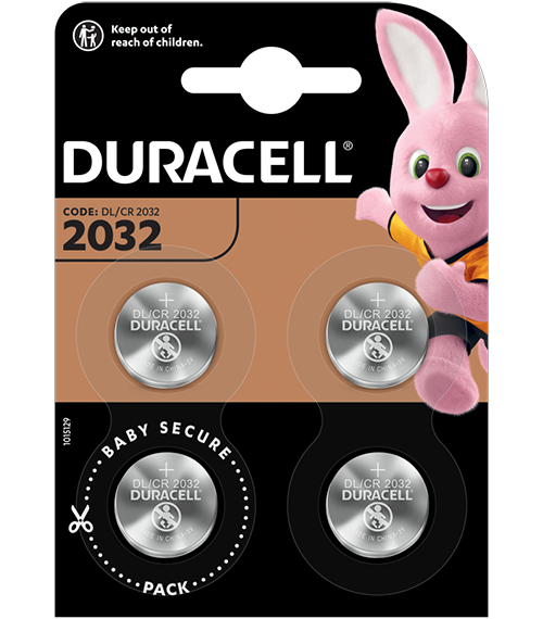 Литиева батерия DL2032 Duracell CR2032 - 3V